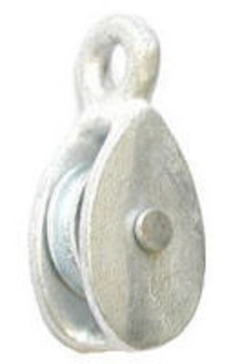 Perry Pulley Single Awning 50mm Galvanised Misc Hardware Pulleys