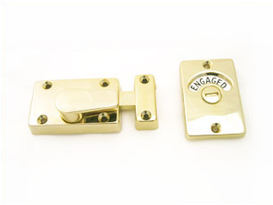 Union Indicator Bolt Electro Brass Bathroom Cubicle Fittings